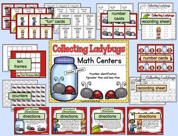 Ladybug Math Bundle - Adding, Subtracting, Number Sense