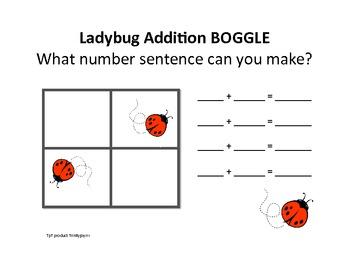 Ladybug Math Boggle