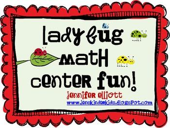 Ladybug Math Center Fun