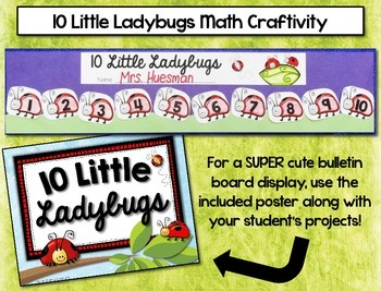 Ladybug Numbers 1-10 --- Spring Counting and Number Recognition Math Centers