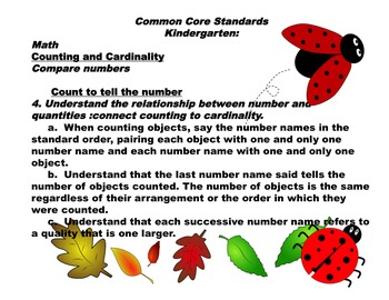 Ladybug Math Number Recognition Count and Puzzle Match  0-20