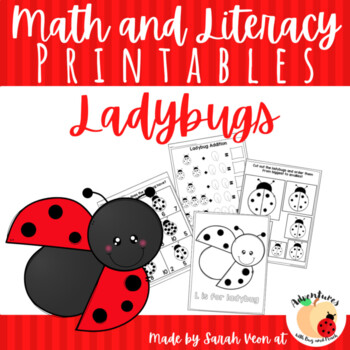 Ladybug Math and Literacy Printables - Distance Learning