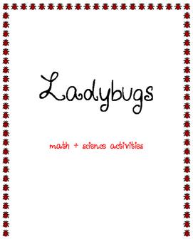 Ladybug Math & Science Activities Freebie