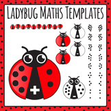 Ladybug Math Templates - Addition and Subtraction 0-9 Commercial Use Clip Art