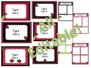 Ladybug Mega Classroom Set - Editable