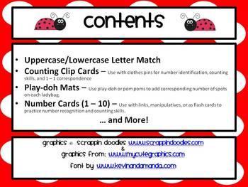 Ladybug Mega Pack ~ Math & Literacy