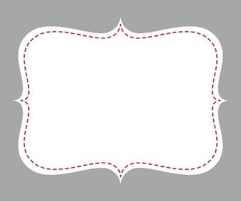 Digital Paper and Frame Mini Set Ladybug