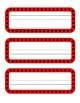 Ladybug Name Cards