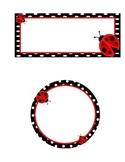 Ladybug Name Plate