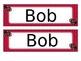 Ladybug Name Tags Desk Plates - Editable