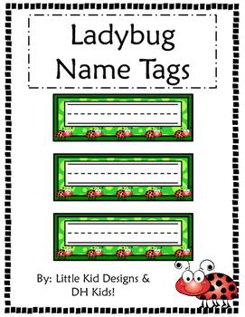Ladybug Name Tags - Printable Name Tags