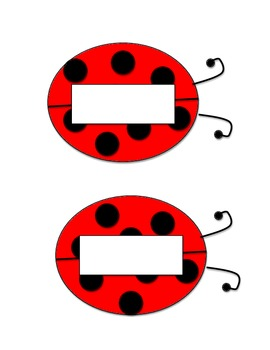 photo about Printable Ladybug titled Ladybug Standing Tags - printable