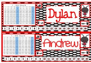 Ladybug Nametags for Desks