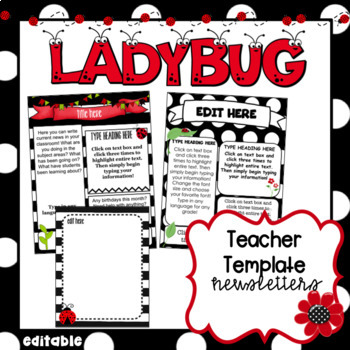 Editable Ladybug Newsletters