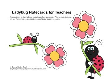 Ladybug Notecards