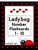 Ladybug Number 1 to 10 Flashcards