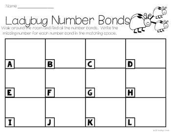 Ladybug Number Bonds