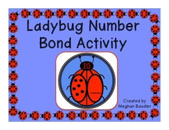Ladybug Number Bonds- Common Core Aligned