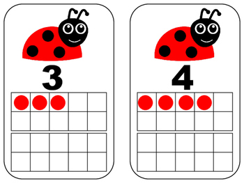 Ladybug Number Cards with Ten Frames