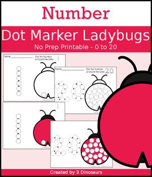 Ladybug Number Dot Marker & Counting