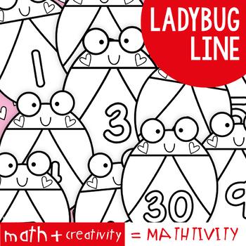 Ladybug Number Line Display - Mathtivity {Counting + Number Order}