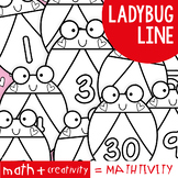 Ladybug Number Line Display - Mathtivity {Counting + Numbe