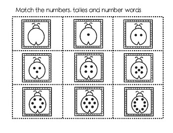 Ladybug Number Match Center