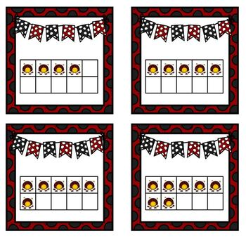 Ladybug Number Match Up Math Center