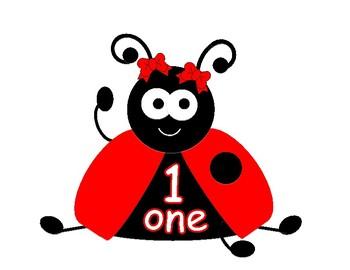 Ladybug Number Posters 0-20