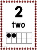 Ladybug Number Posters 0-20 With Ten Frames