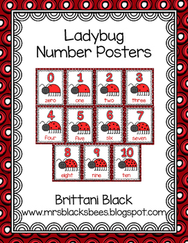 Ladybug Number Posters