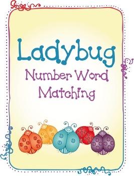 Ladybug Number Word Matching
