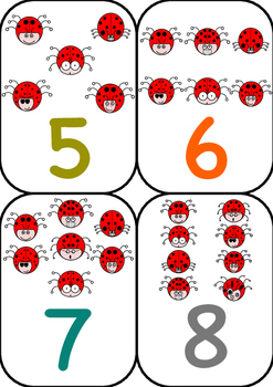 1-10 Ladybug Numbers