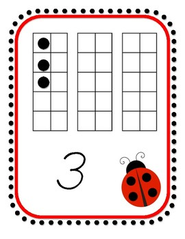 Ladybug Numbers 1-30 Posters with Completed Ten-frames