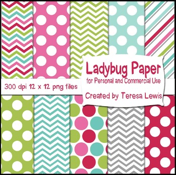 Ladybug Paper Pack with one free Bunting