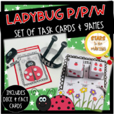 Ladybug Part Part Whole Work mat task cards and games with headband