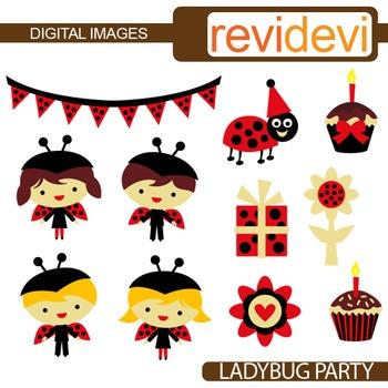 Ladybug Party Clip art