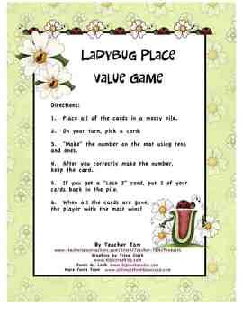 Ladybug Place Value Game