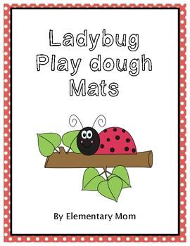 Ladybug Play dough Mats