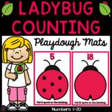 Ladybug Playdough Counting Mats - Numbers 1-20