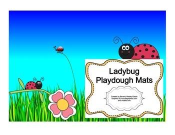 Spring Ladybug Playdough Mats