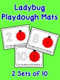 Ladybug Playdough Mats - 2 Sets of 10
