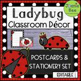 Ladybug Postcards and Stationery Set