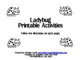 Ladybug Printable Speech and Language Activities {FREEBIE}