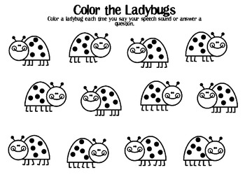 graphic about Printable Ladybug named Ladybug Printable Speech and Language Routines FREEBIE