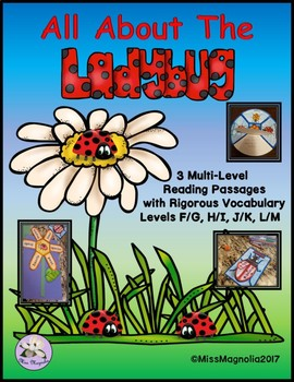 Ladybug Reading Passages Multi-Leveled