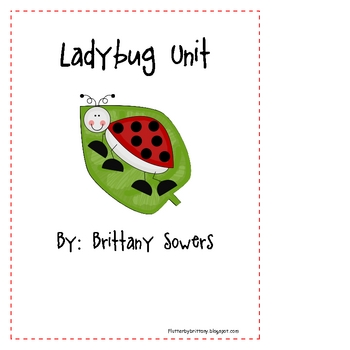 Ladybug Reading, Writing, and Science Unit