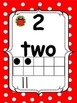Ladybug Red/Black Polka Dot Math Number (word) Cards 0-20