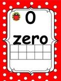 Ladybug Red/Black Polka Dot Math Number (word) Cards 0-20
