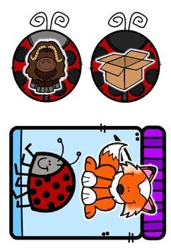 Ladybug Rhyming Game - Short Vowels